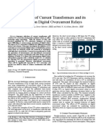 Saturation of Current Transformers and Its Impact on Digital Overcurrent Relays