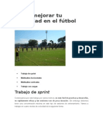 Cómo Mejorar Tu Velocidad en El Fútbol