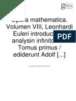 Introduccion Al Analisis Infinitesimal-Euler