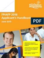 FP2016 Applicants Handbook FINAL WEB Updated 300915 V1