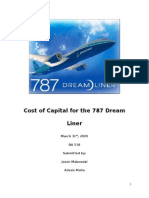 787 Financial Analysis