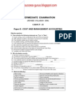 Paper-8 Cost and Management Accounting  REVISIONARY TEST PAPER(RTP) for INTERMEDIATE DECEMBER 2009 TERM OF EXAMINATION