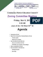 151106 Zoning Meeting Agenda