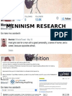Meninism Research