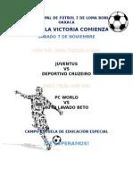 Cartel Liga Futbol