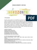 Programa Horizonte - CECIP 2016