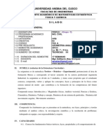 SILABO DE FISICA I