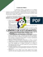Comunicado Público sobre Elecciones FEUV