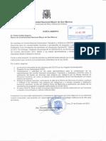 UNMSM Carta Abierta Comite Electoral Nov 2015