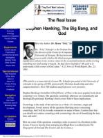 Stephen Hawking - The Big Bang and God