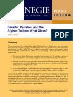 Beradar, Pakistan, and the Afghan Taliban