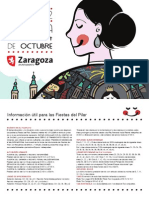 Programa Fiestas 2012 del pilar