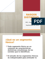 RASGOS DISTINTIVOS FONEMAS EN ESPAÑOL MEXICANO