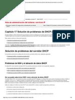 Capítulo 17 Solución de Problemas de DHCP (Referencia) (Guía de Administración Del Sistema_ Servicios IP)