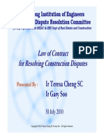 Law of Contract for Resolving Construction Disputes