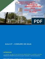 Sistemas de abastecimento de água, Slides da aula de Rogério Frade