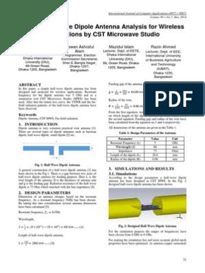 CST Dipole | Antenna (Radio) | Broadcast Engineering
