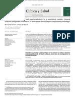 Dependencia, Desapego y Psicopatologia en Una Muestra No Clinica - Relaciones Generales y Diferencias de Genero. - Hay Una Nueva Linea de Investigación de La Patologia Paranoide