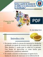 """""""Utilización de la harina a partir de cáscara de maracuyá (Passiflora edulis) en la elaboración de galletas fortificadas"""""""