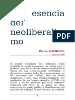 La Esencia Del Neoliberalismo