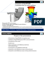 Evaluation of OpenFOAM for CFD of Turbulent Flow in Water Turbines