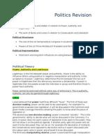 Politics Revision (prelim)