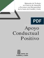 Apoyo Conductual Positivo  Manuales de Trabajo en Centros de Atención a Personas con Discapacidad de la Junta de Castilla y León