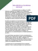 La Industria Eléctrica y La Reforma Electoral