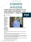 Brian Spector Leaving Baupost Letter - Business Insider