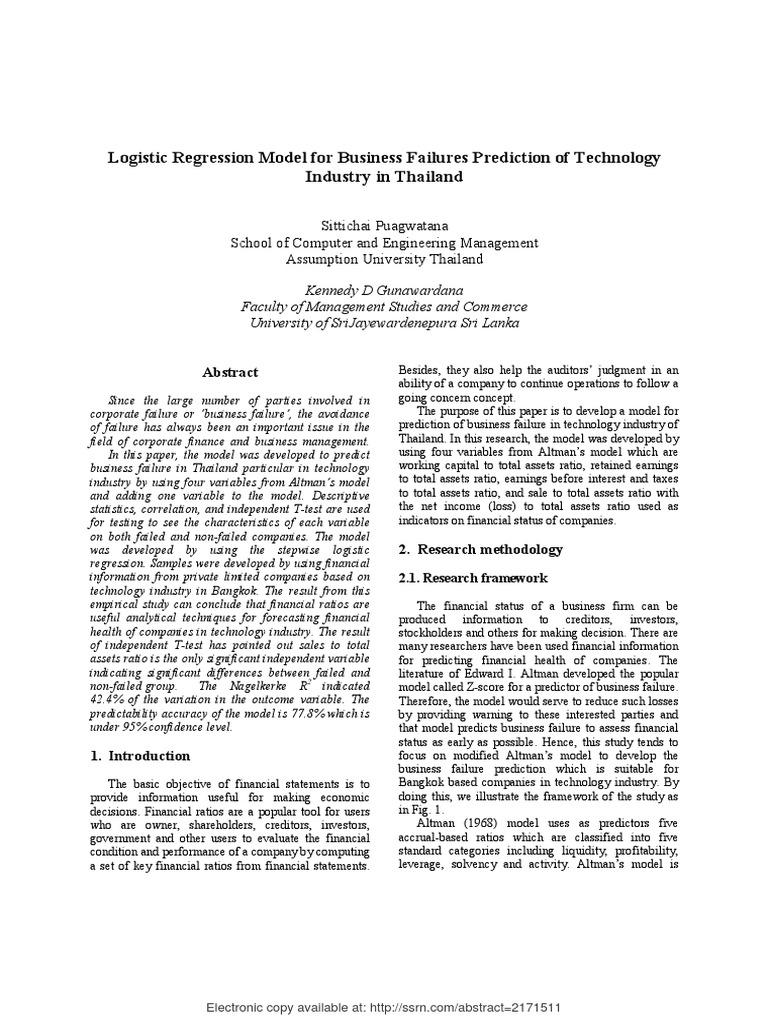SSRN-id2171511 pdf   Prediction   Logistic Regression