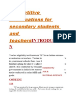 Competitive Examinations for Secondary Students and Teachers