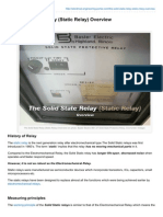 The Solid State Relay Static Relay Overview