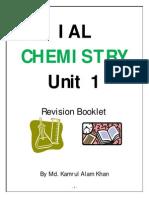 Edexcel AS Chemistry Unit 1 Revision Booklet-Worksheet