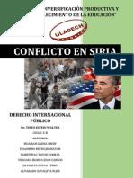 Monografia Conflicto de SIRIA