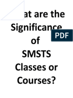 What Are the Significance of Smsts Classes or Courses
