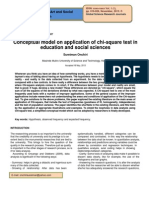 Conceptual Model on Application of Chi Square Test in Education and Social Sciences