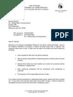 Michigan DHS Investigation of Maxey Boys Training School 2013