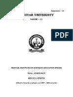 Msc Zoology Free Download pdf