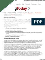 Employee Training - Employee Training in the Workplace