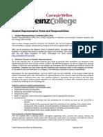 Student Representative Roles and Responsibilities