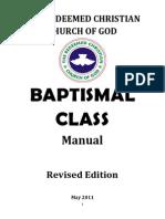 RCCG Baptismal Class Manual