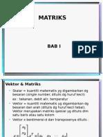Aljabar Linier & Matriks-1