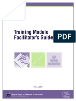 Training Module Facilitator's Guide