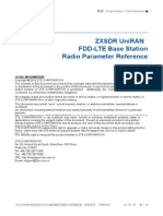 ZXSDR UniRAN (V3.10.20) FDD-LTE Base Station Radio Parameter Reference