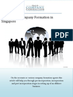 Essentials of Company Formation in Singapore