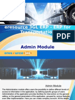 eresource 3GL ERP | ERP For Transportation Business | Admin Module