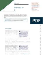 Etiquetas de Idioma en HTML y XML