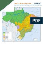 Mapa Dos Biomas Brasileiros IBGE 2014