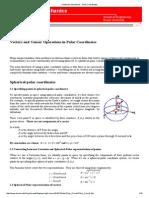 Continuum Mechanics - Polar Coordinates