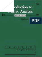 Matrix Analysis, Bellman